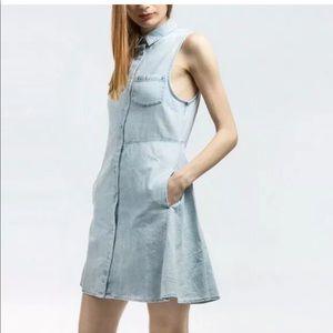 cheap monday detonation dress Denim Print